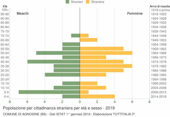 Grafico cittadini stranieri - Agnosine 2019