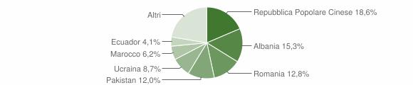 Grafico cittadinanza stranieri - Mesero 2019