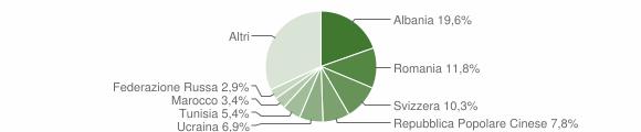 Grafico cittadinanza stranieri - Viggiù 2019