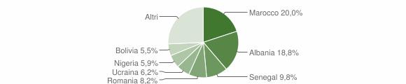 Grafico cittadinanza stranieri - Nembro 2019