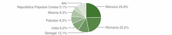 Grafico cittadinanza stranieri - Bassano Bresciano 2014
