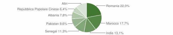 Grafico cittadinanza stranieri - Bassano Bresciano 2019