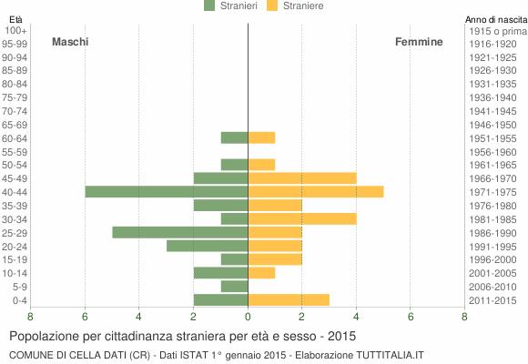 Grafico cittadini stranieri - Cella Dati 2015