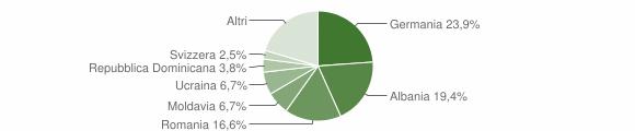 Grafico cittadinanza stranieri - Gargnano 2010