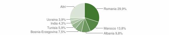 Grafico cittadinanza stranieri - Artogne 2008