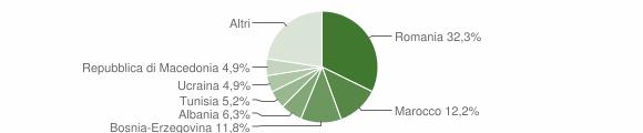Grafico cittadinanza stranieri - Artogne 2010