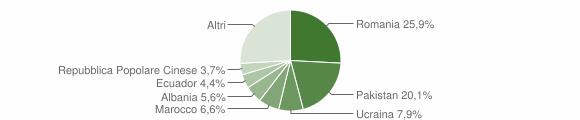 Grafico cittadinanza stranieri - Desio 2018