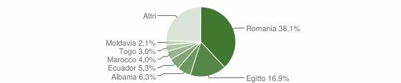 Grafico cittadinanza stranieri - Massalengo 2019