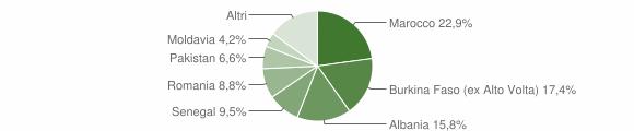 Grafico cittadinanza stranieri - Sabbio Chiese 2018