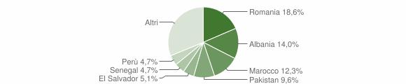 Grafico cittadinanza stranieri - Vaprio d'Adda 2019