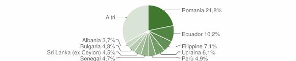 Grafico cittadinanza stranieri - Bussero 2019