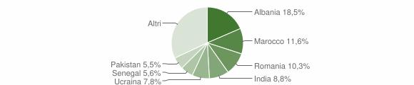 Grafico cittadinanza stranieri - Cazzago San Martino 2019