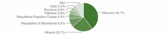 Grafico cittadinanza stranieri - Trenzano 2009
