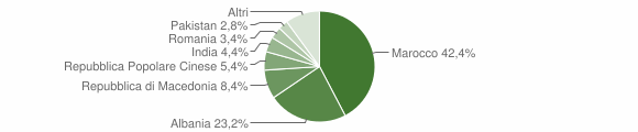 Grafico cittadinanza stranieri - Trenzano 2010