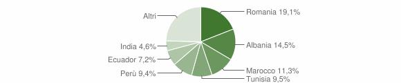 Grafico cittadinanza stranieri - Piancogno 2009