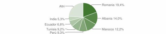 Grafico cittadinanza stranieri - Piancogno 2010