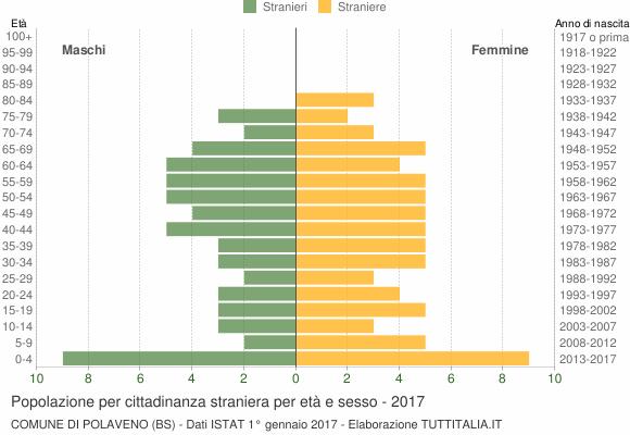 Grafico cittadini stranieri - Polaveno 2017