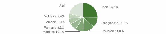 Grafico cittadinanza stranieri - Suzzara 2019