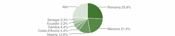 Grafico cittadinanza stranieri - Candia Lomellina 2019