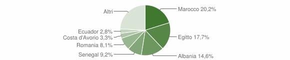 Grafico cittadinanza stranieri - Pontirolo Nuovo 2010