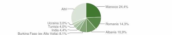 Grafico cittadinanza stranieri - Roè Volciano 2009
