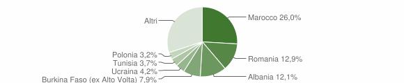 Grafico cittadinanza stranieri - Roè Volciano 2010