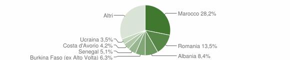 Grafico cittadinanza stranieri - Roè Volciano 2013