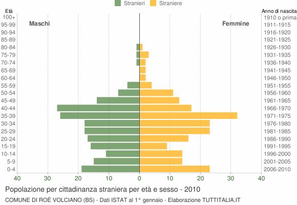 Grafico cittadini stranieri - Roè Volciano 2010