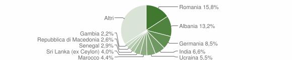 Grafico cittadinanza stranieri - San Felice del Benaco 2019