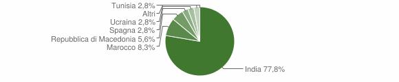 Grafico cittadinanza stranieri - San Martino del Lago 2015