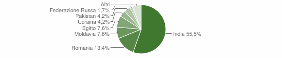Grafico cittadinanza stranieri - Villachiara 2020