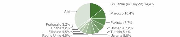 Grafico cittadinanza stranieri - Carimate 2010