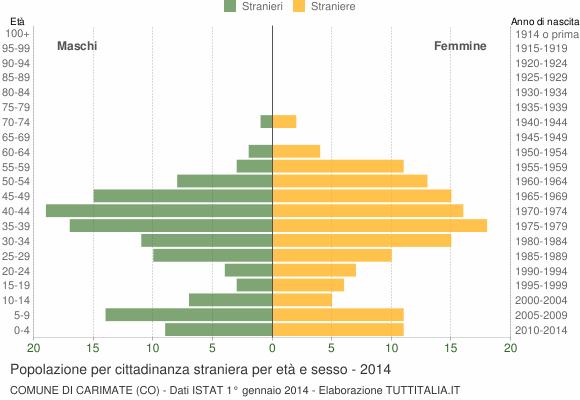 Grafico cittadini stranieri - Carimate 2014