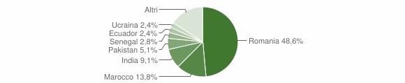 Grafico cittadinanza stranieri - Cenate Sotto 2010