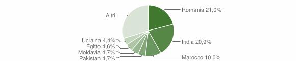 Grafico cittadinanza stranieri - Dello 2015
