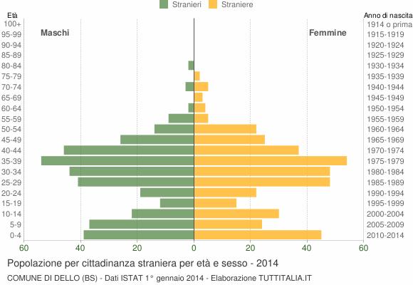 Grafico cittadini stranieri - Dello 2014