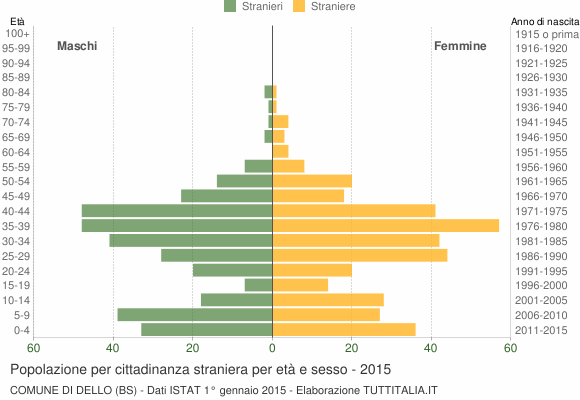 Grafico cittadini stranieri - Dello 2015