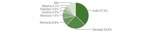 Grafico cittadinanza stranieri - Foresto Sparso 2019