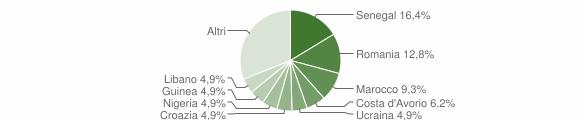 Grafico cittadinanza stranieri - Levate 2019