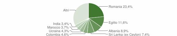Grafico cittadinanza stranieri - Sirmione 2014