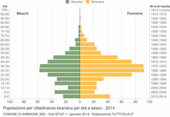 Grafico cittadini stranieri - Sirmione 2014