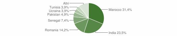 Grafico cittadinanza stranieri - Visano 2012
