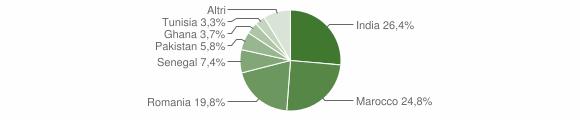 Grafico cittadinanza stranieri - Visano 2014