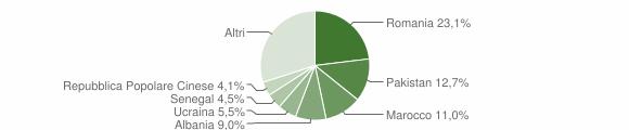Grafico cittadinanza stranieri - Giussano 2019