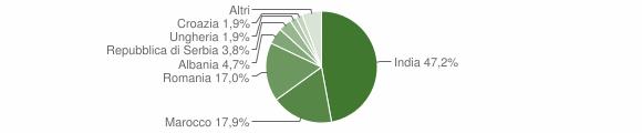 Grafico cittadinanza stranieri - Motta Baluffi 2019