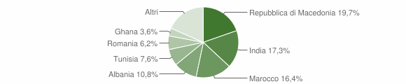 Grafico cittadinanza stranieri - Orzinuovi 2008