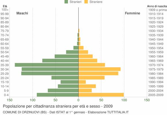 Grafico cittadini stranieri - Orzinuovi 2009