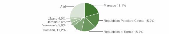 Grafico cittadinanza stranieri - Piateda 2009