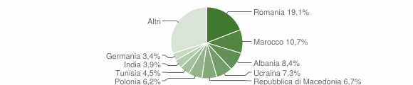 Grafico cittadinanza stranieri - Polpenazze del Garda 2013