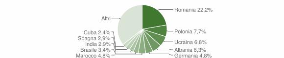 Grafico cittadinanza stranieri - Polpenazze del Garda 2019